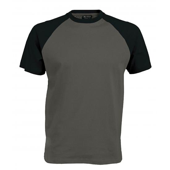 Grijs/zwarte t shirts voor heren