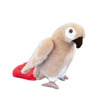 Grijze roodstaart papegaai knuffeldier 23 cm