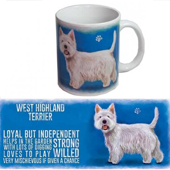 Grote beker West Higland terrier