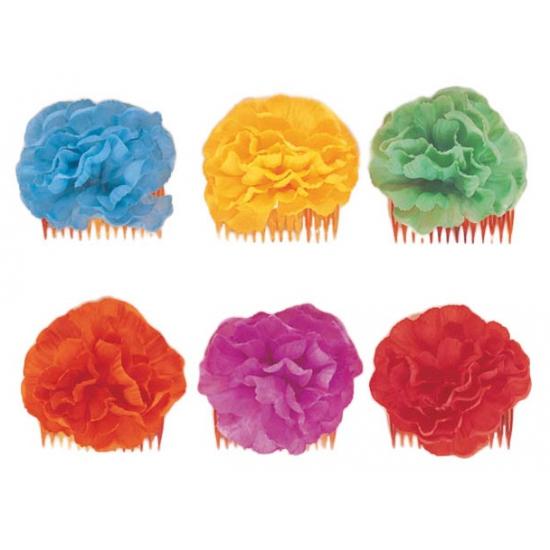 Haarklemmen met groene bloem