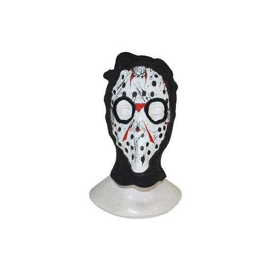 Halloween bivakmuts met hockey masker