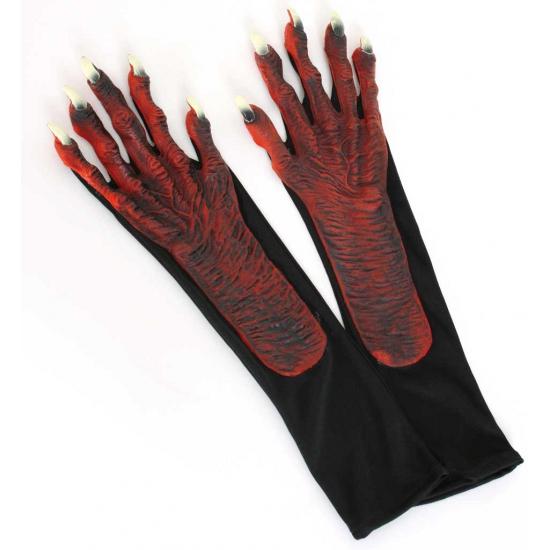 Halloween duivel handschoenen