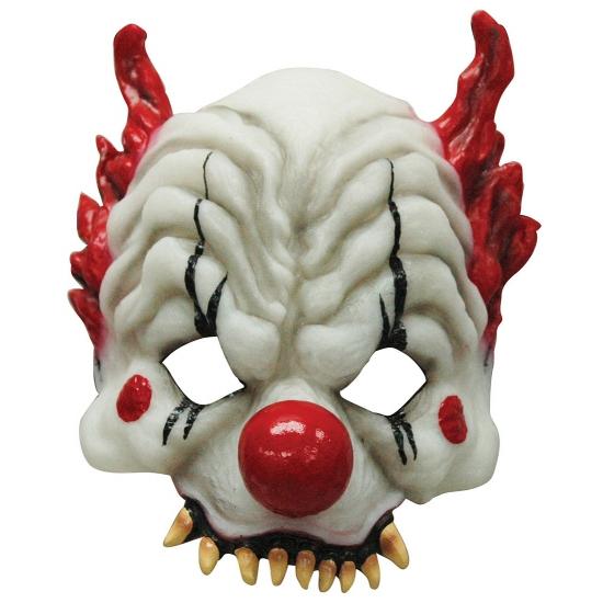 Halloween Horror clown half masker