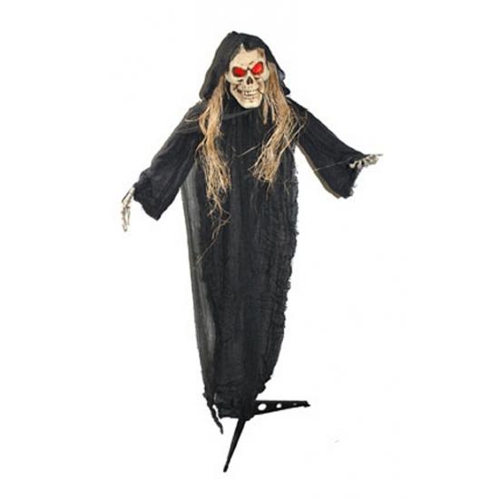 Halloween skelet beige op standaard