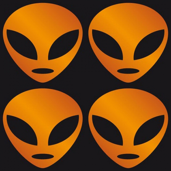Halloween stickers oranje Alien
