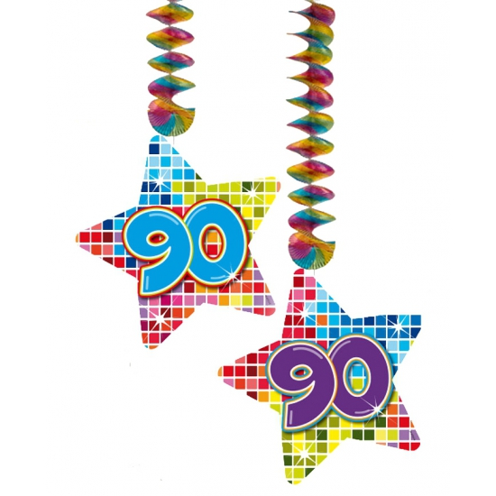 Hangdecoratie 90e verjaardag