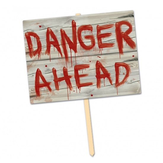 Hangdecoratie danger ahead