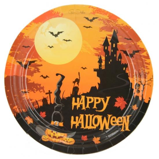 Happy Halloween bordjes 18 cm