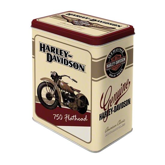 Harley Davidson bewaarblik wit 20 cm