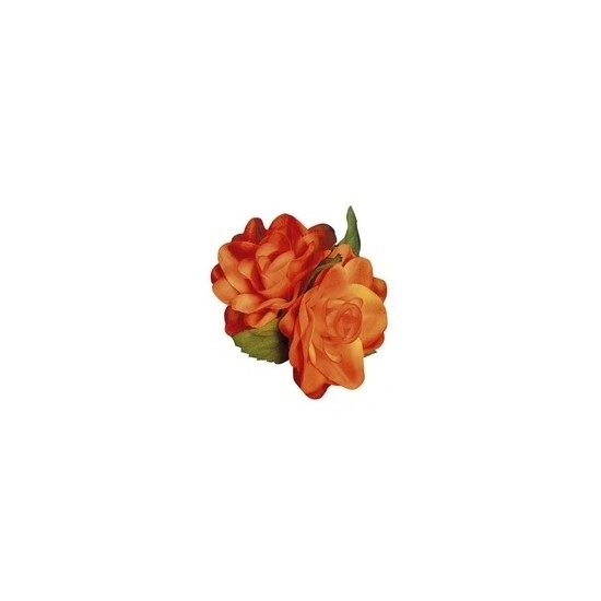 Hawaii accessoire oranje roos haarclip