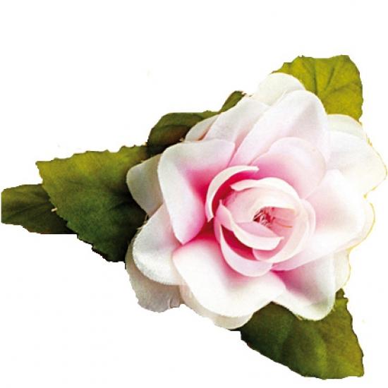 Hawaii accessoire roze roos haarclip