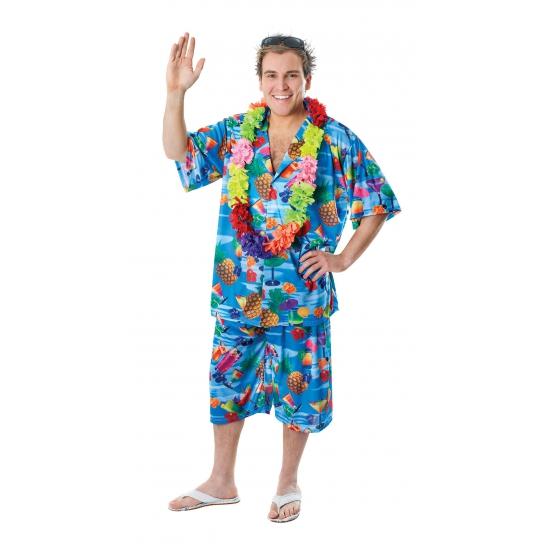 Hawaii blouse en shorts voor heren