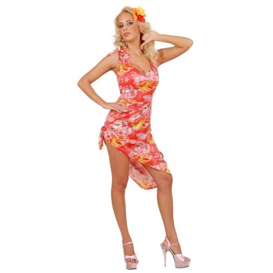 Hawaii jurk voor dames rood