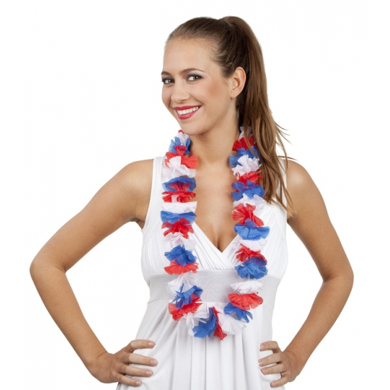 Hawaii slinger rood wit blauw