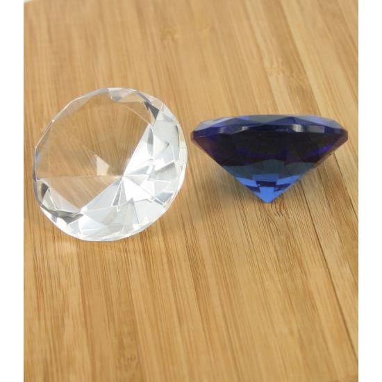 Hobby transparante diamanten 1 stuk