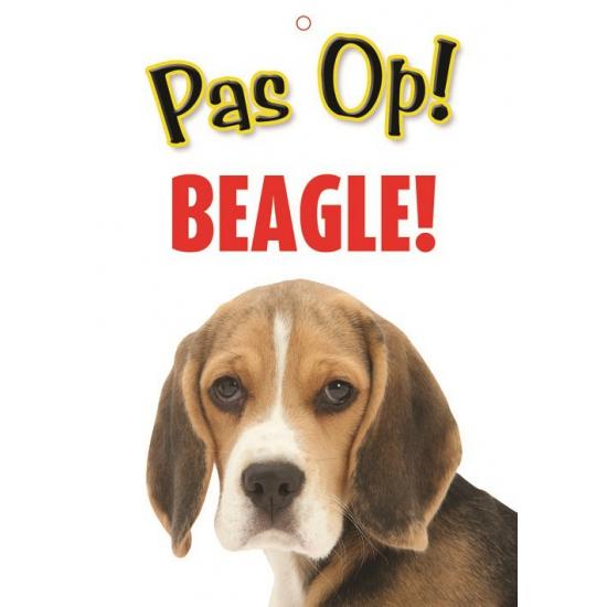 Honden waakbord pas op Beagle 21 x 15 cm
