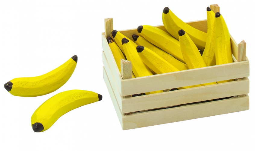 Houten kist met bananen