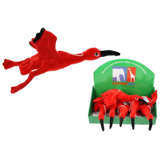 Ibis knuffel rood 34 cm
