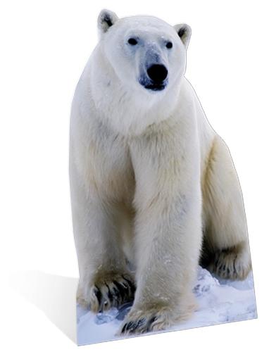Ijsberen decoratie bord 176 cm
