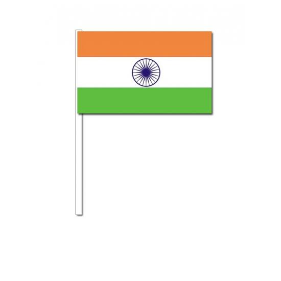 India zwaai vlaggetjes 12 x 24 cm