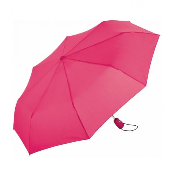 Inklap paraplu in tasje felroze