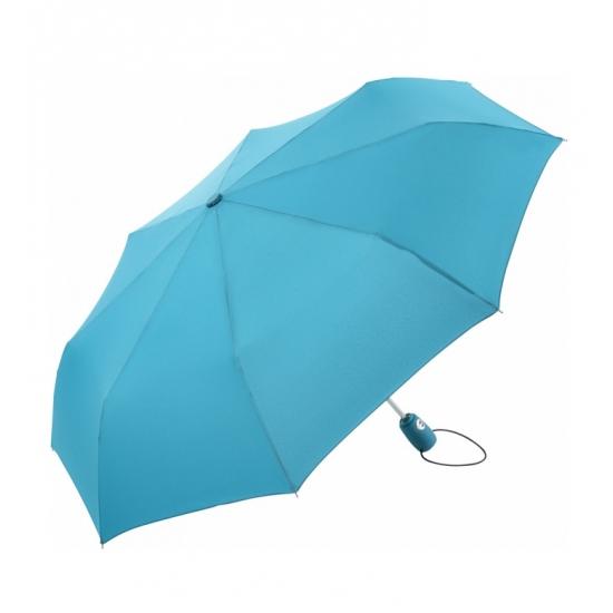 Inklap paraplu in tasje lichtblauw