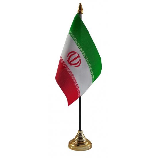 Iran vlaggetje voor op tafel