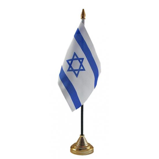 Israel vlaggetje voor op tafel
