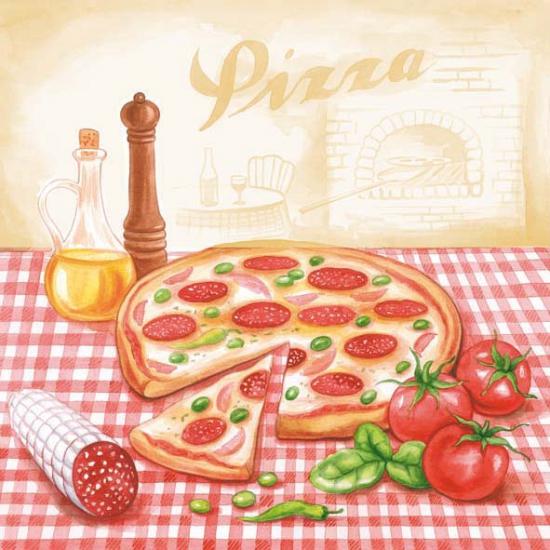 Italiaanse restaurant servetten 20x