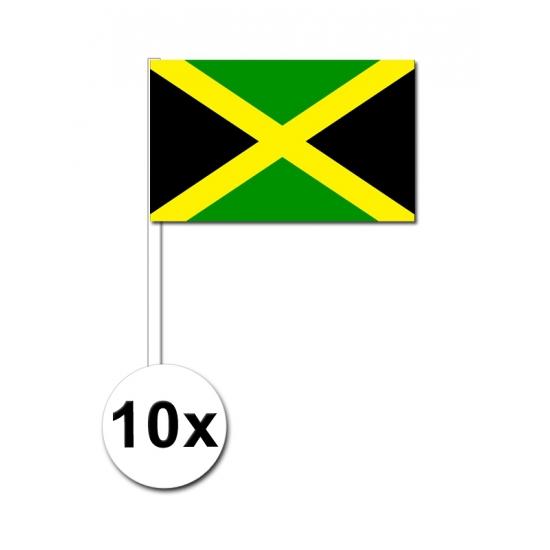 Jamaica zwaai vlaggetjes 10 stuks