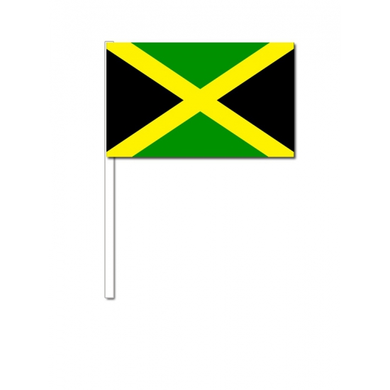 Jamaica zwaai vlaggetjes 12 x 24 cm