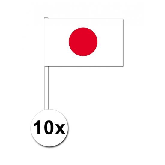 Japan zwaai vlaggetjes 10 stuks