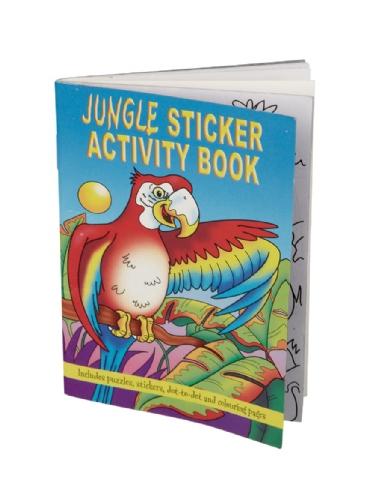Jungle tekenboek met stickers