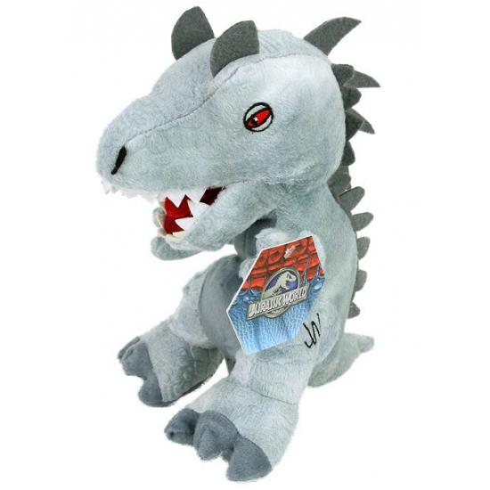 Jurassic Park World grijze dino knuffel