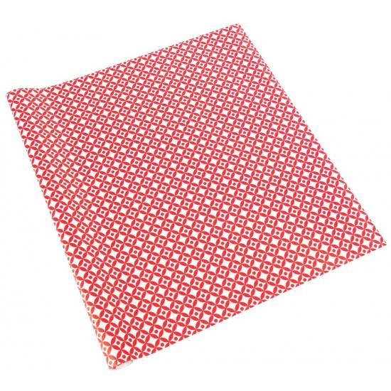 Kadopapier rood wit patroon