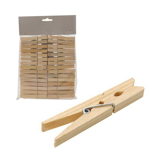 Kampeer wasknijpers hout 30 stuks