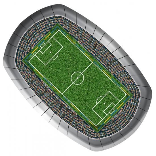 Kartonnen bordjes met voetbal thema