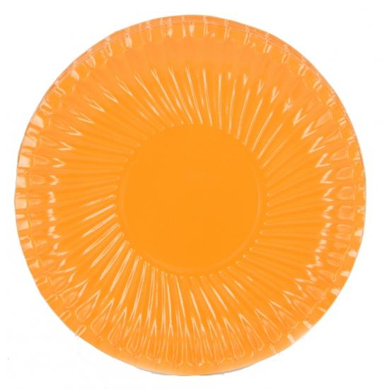 Kartonnen bordjes oranje 29 cm