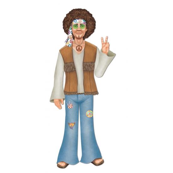 Kartonnen hippie man muurdecoratie