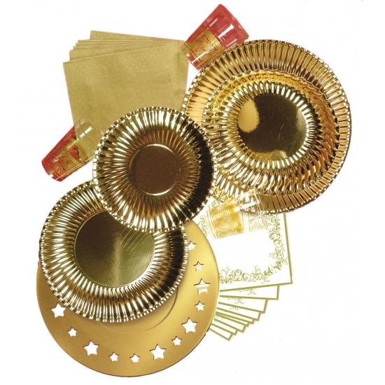 Kartonnen placemats metallic goud 6 stuks