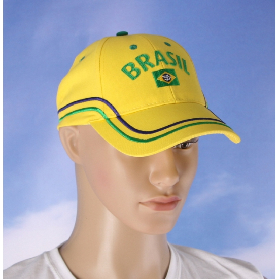 Katoenen Brazilie fan cap