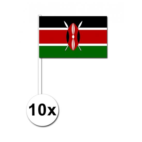 Kenia zwaai vlaggetjes 10 stuks
