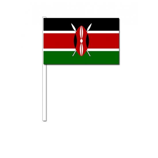 Kenia zwaai vlaggetjes 12 x 24 cm