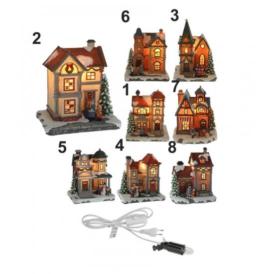 Kerst huisje met LED licht nummer 5