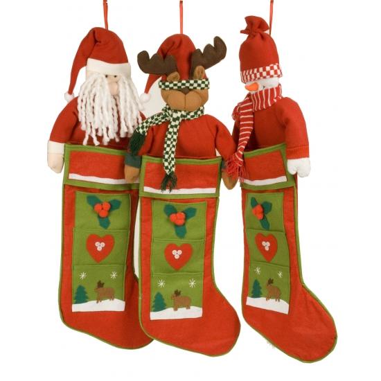 Kerst kous met rendiertje