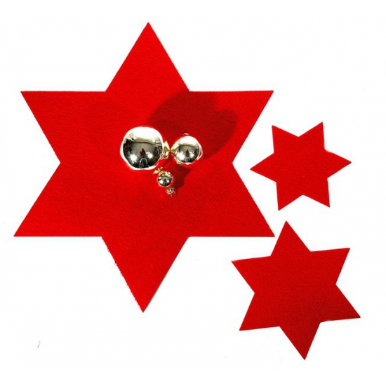 Kerst onderzetter grote rode ster