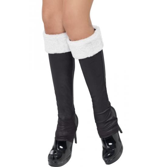 Kerst schoenhoezen zwart met wit