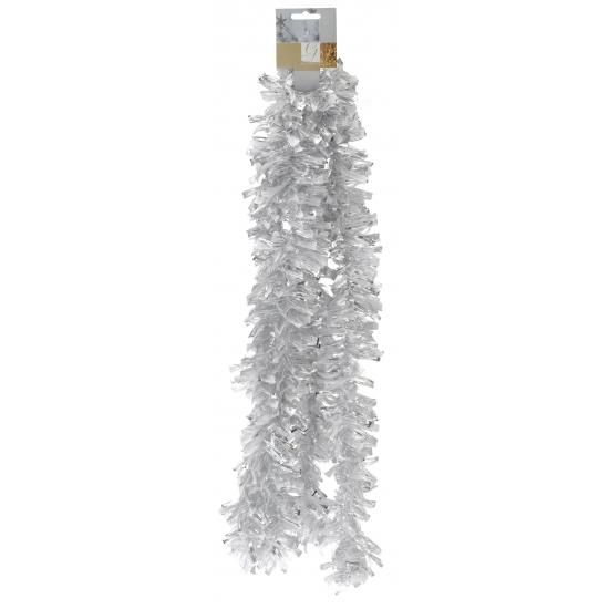 Kerst slinger wit zilver 270 cm