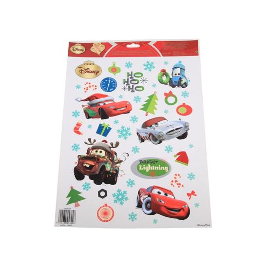 Kerst stickers van Cars voor het raam