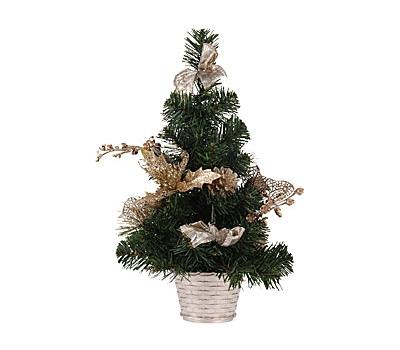Kerstboompje met gouden details